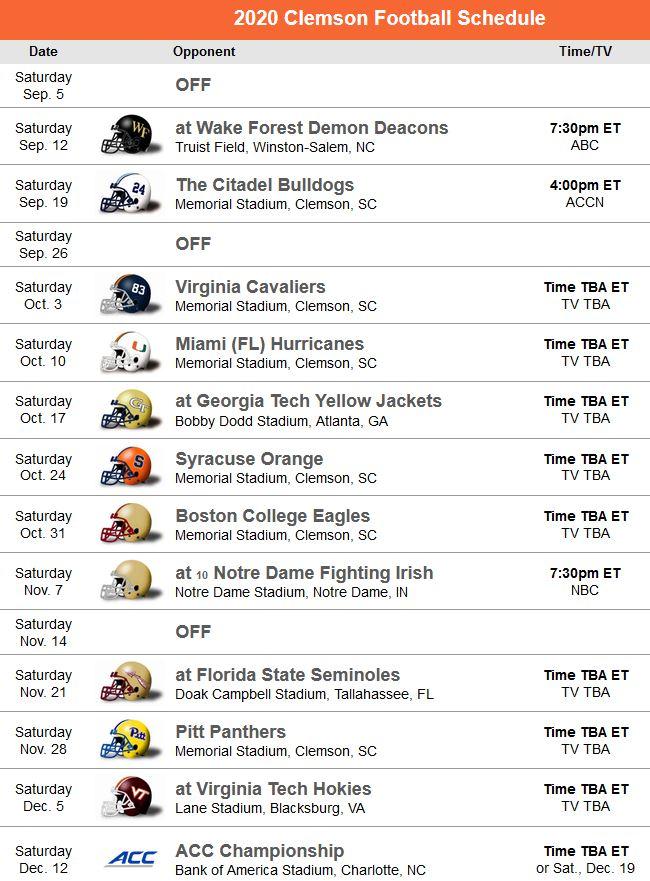 Clemson Football   Live Stream, Clemson Tigers, TV ...
